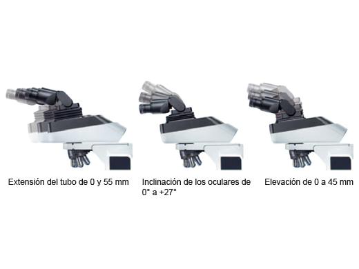 Tubo de observación ergonómico