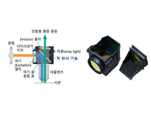 Fluorescence Mirror Units with Advanced Coatings and Stray Light Reduction