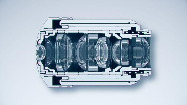 Structure d'un objectif de microscope