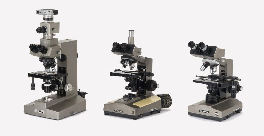 Upright microscopes of the 1970s